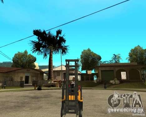 Forklift GTAIV для GTA San Andreas вид сзади