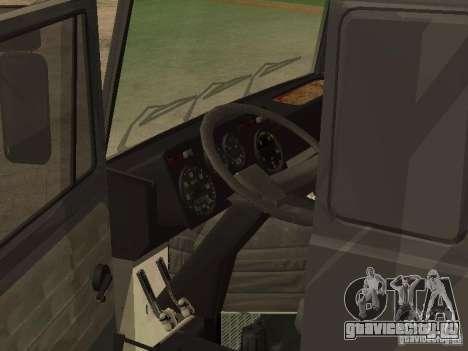 МАЗ 5336 тягач для GTA San Andreas вид сзади слева