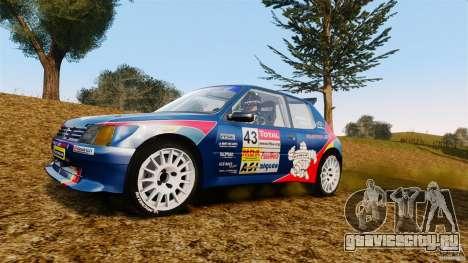 Peugeot 205 Maxi для GTA 4 вид сзади