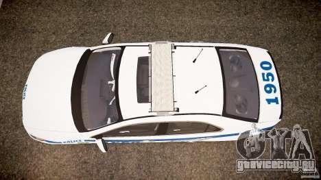 Honda Accord Type R NYPD (City Patro 1950l) ELS для GTA 4 вид справа