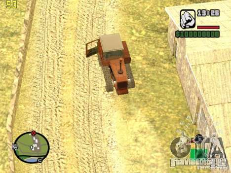 Трактор ДТ-75 Почтальон для GTA San Andreas вид сверху