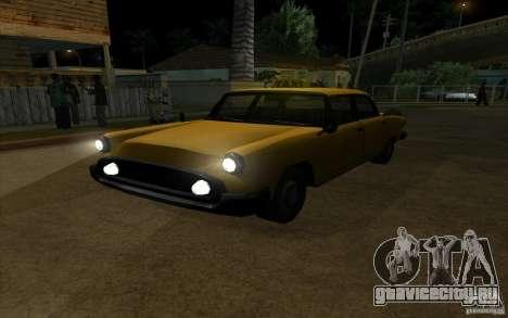 Glendale Cabbie для GTA San Andreas вид сзади