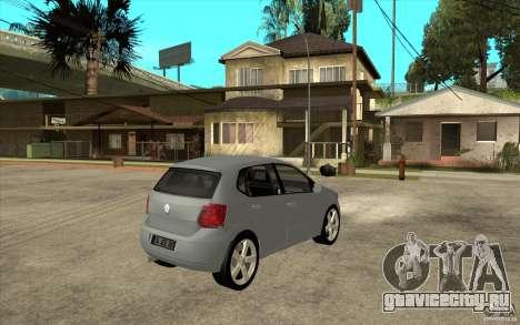 Volkswagen Polo 2011 для GTA San Andreas вид справа