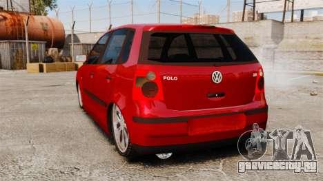 Volkswagen Polo Edit для GTA 4 вид сзади слева