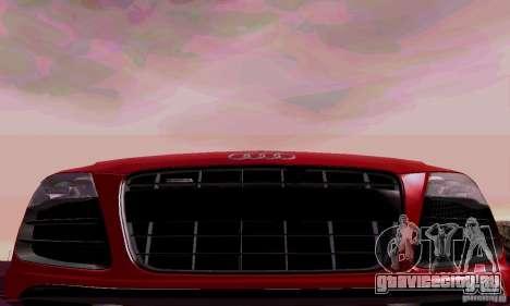 Audi R8 V10 Spyder 5.2. FSI для GTA San Andreas вид изнутри