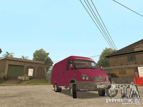 ГАЗель 2705 для GTA San Andreas вид сверху