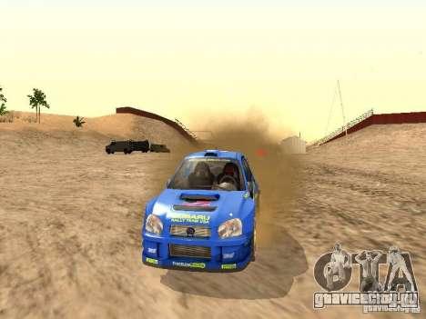 Subaru Impreza WRC 2003 для GTA San Andreas вид справа