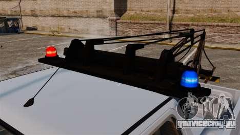 Rancher Tow Truck ELS для GTA 4 вид изнутри