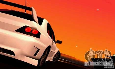 Mitsubishi Lancer Evo VII для GTA San Andreas вид сзади слева