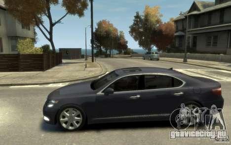 Lexus LS 600h L v1.1 для GTA 4 вид слева