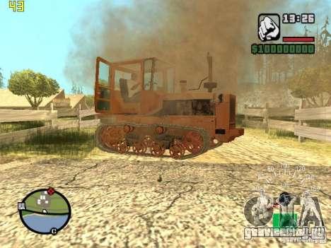 Трактор ДТ-75 Почтальон для GTA San Andreas вид снизу
