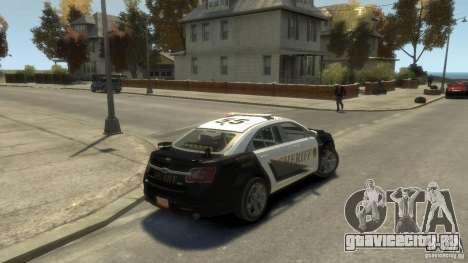 Ford Taurus Sheriff 2010 для GTA 4 вид слева