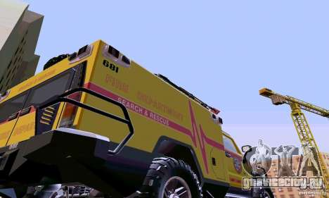 Hummer H2 Ambluance из Трансформеров для GTA San Andreas вид справа