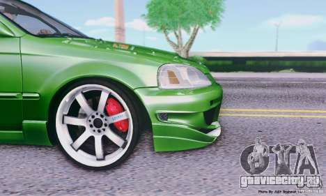 Honda Civic Si Sporty для GTA San Andreas вид сзади слева