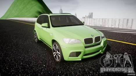 BMW X5 M-Power для GTA 4 вид сзади