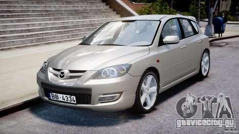 Mazda 3 2004 для GTA 4 вид изнутри