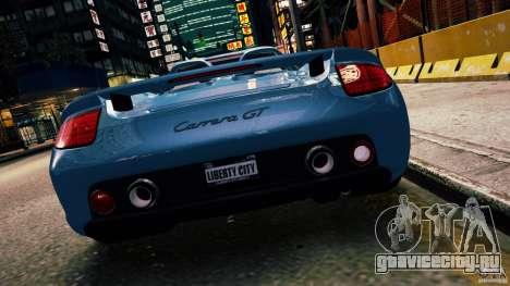 Porsche Carrera GT для GTA 4 вид справа