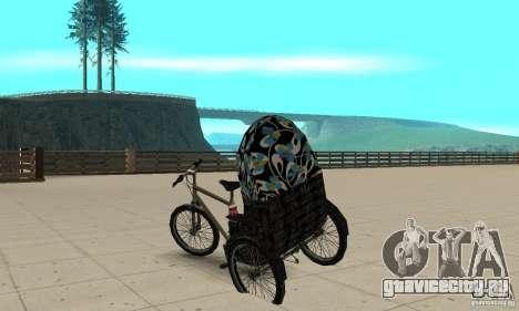 Manual Rickshaw v2 Skin3 для GTA San Andreas вид сзади слева