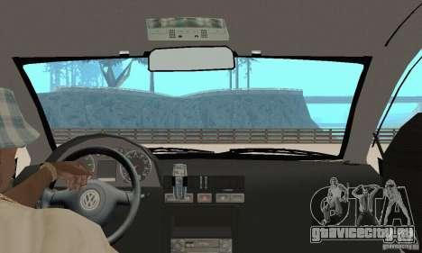 Volkswagen Bora Stock для GTA San Andreas вид сзади