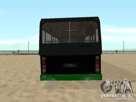 Прицеп для ЛиАЗ 6212 для GTA San Andreas вид справа