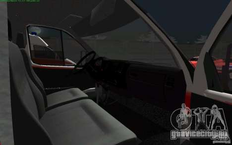 ГАЗель 22172 Скорая помощь для GTA San Andreas вид сзади