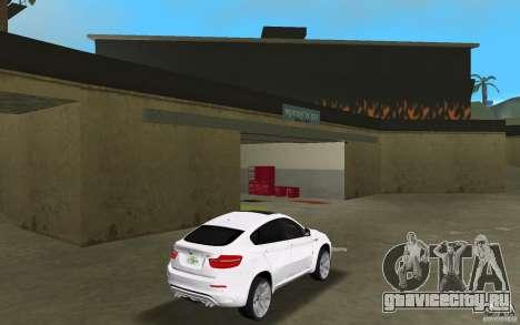 BMW X6M 2010 для GTA Vice City вид справа