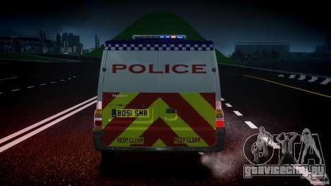 Ford Transit Polish Police [ELS] для GTA 4 вид снизу