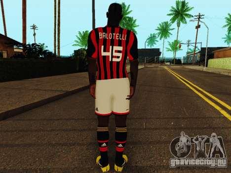 Марио Балотелли v1 для GTA San Andreas четвёртый скриншот