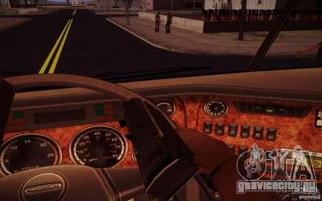 Freightliner Argosy для GTA San Andreas вид изнутри