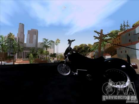 Harley Davidson FXD Super Glide для GTA San Andreas вид сзади
