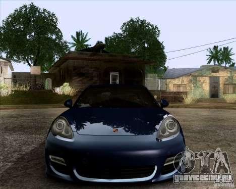 Porsche Panamera Turbo 2010 Final для GTA San Andreas вид изнутри
