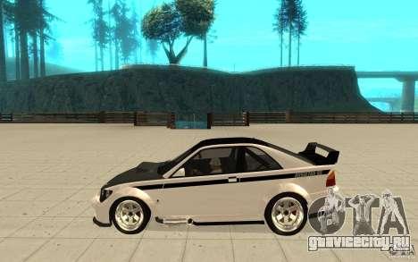 GTA IV Sultan RS FINAL для GTA San Andreas вид слева