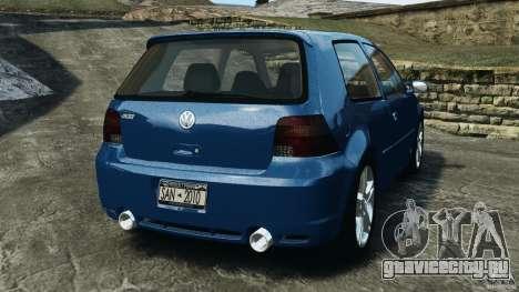 Volkswagen Golf 4 R32 2001 v1.0 для GTA 4 вид сзади слева