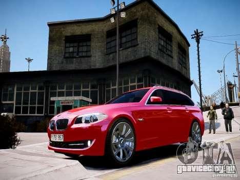 BMW 525i Touring для GTA 4 вид сзади слева