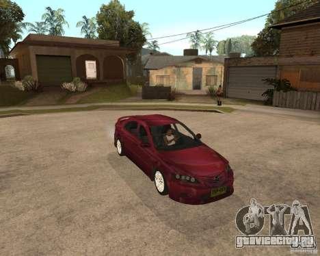 Mazda 6 Sport для GTA San Andreas вид сзади слева