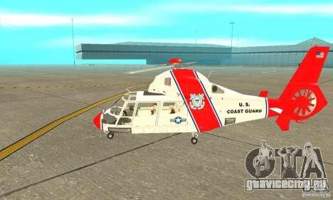 AS-365N береговой охраны США для GTA San Andreas вид сзади слева