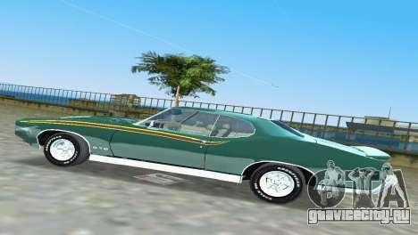 Pontiac GTO The Judge 1969 для GTA Vice City вид изнутри