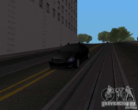 Mercedes Benz S500 w221 SE для GTA San Andreas вид сзади слева