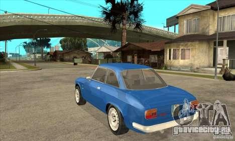 Alfa Romeo Giulia GTA для GTA San Andreas вид сзади слева