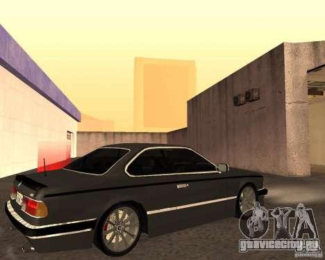 BMW M6 E24 для GTA San Andreas вид изнутри