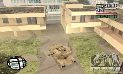 M1A2 Abrams TUSK для GTA San Andreas вид справа