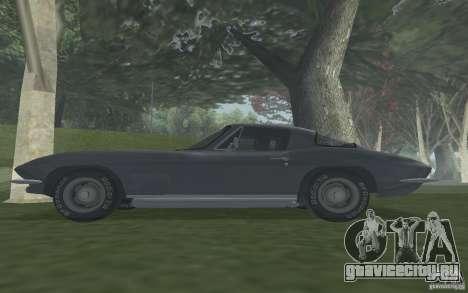 Chevrolet Corvette 427 для GTA San Andreas вид справа