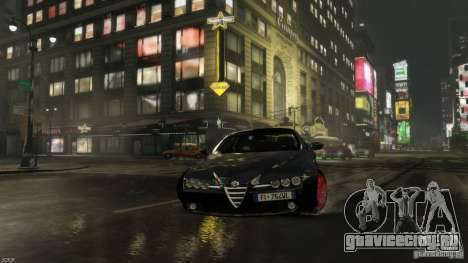 Alfa Romeo Brera Italia Independent 2009 v1.1 для GTA 4 вид сзади