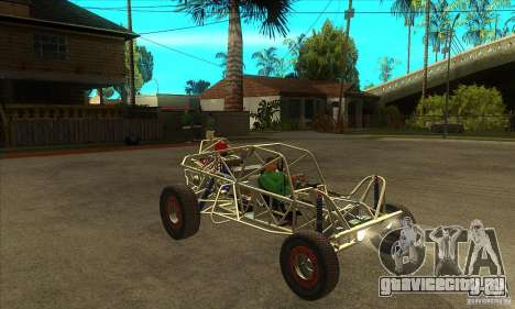 Dirt 3 Stadium Buggy для GTA San Andreas вид сзади