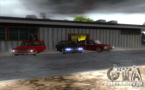 ВАЗ 2102 retro для GTA San Andreas вид изнутри