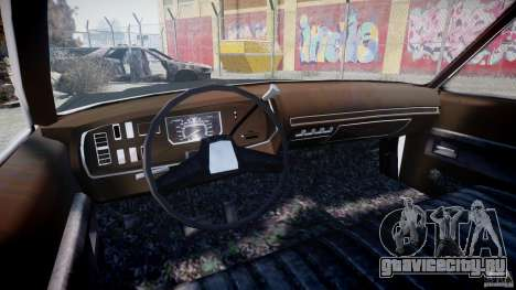 Dodge Monaco 1974 (bluesmobile) для GTA 4 вид сзади