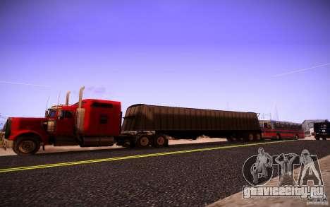 Kenworth W 900L для GTA San Andreas вид слева