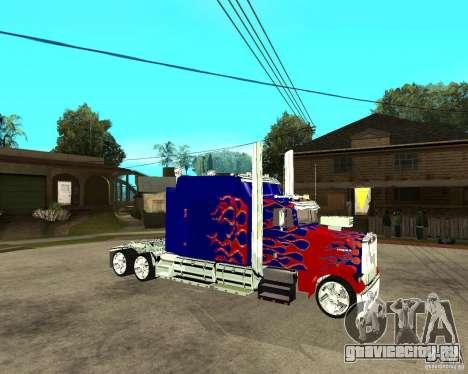 Truck Optimus Prime для GTA San Andreas вид справа