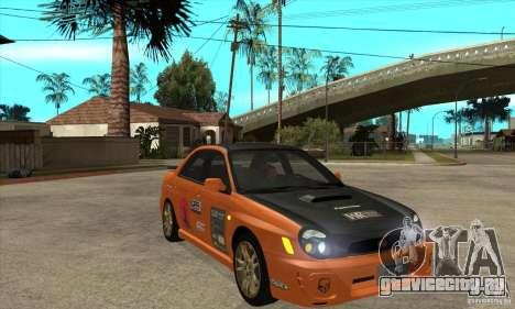 Subaru Impreza WRX для GTA San Andreas вид сзади