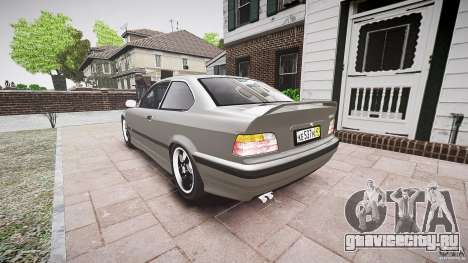 BMW E36 328i v2.0 для GTA 4 вид сзади слева